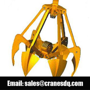 6 tines electric hydraulic grab bucket