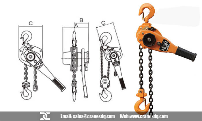 Block and tackle hoist for sale - Dongqi Lever chain hoist