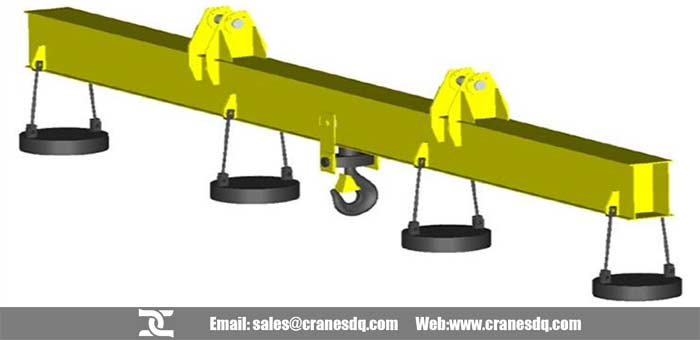 Electromagnetic carrier-beam for overhead crane