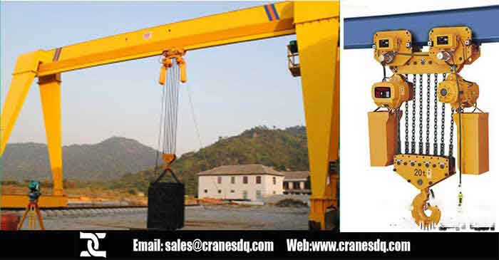 Chain crane: Electric chain hoist used on overhead crane and gantry