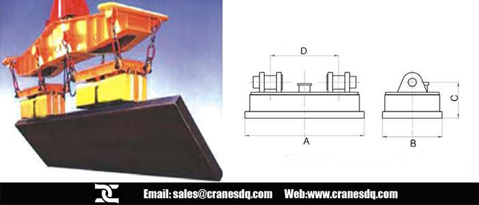Crane elecrtromagnet and drawing