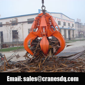 Electric hydraulic orange peel grab bucket