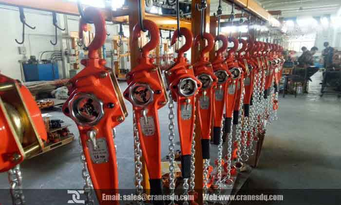 Lever chain hoist  for customers