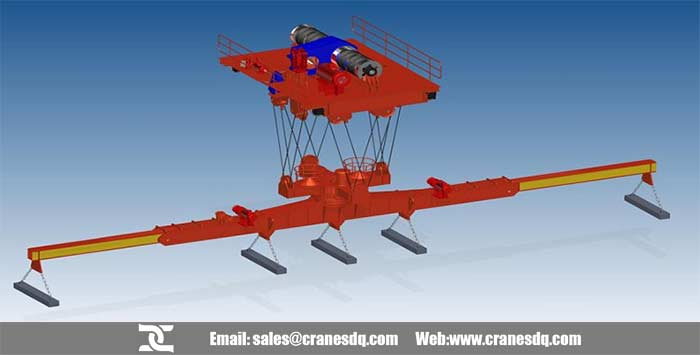 lower rotating electromagnetic carrier-beam