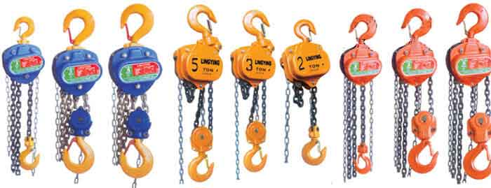 Types of manual chain hoist and manual handling hoists for sale