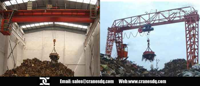 Electromagnet <a href=/overhead-crane-for-sale.html target=_blank class=infotextkey>overhead crane</a> and <a href=/gantry-crane-for-sale-china.html target=_blank class=infotextkey>gantry crane</a> for steel scraps