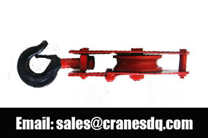 Pulleys for sale: Lifting pulley, crane pulley and crane