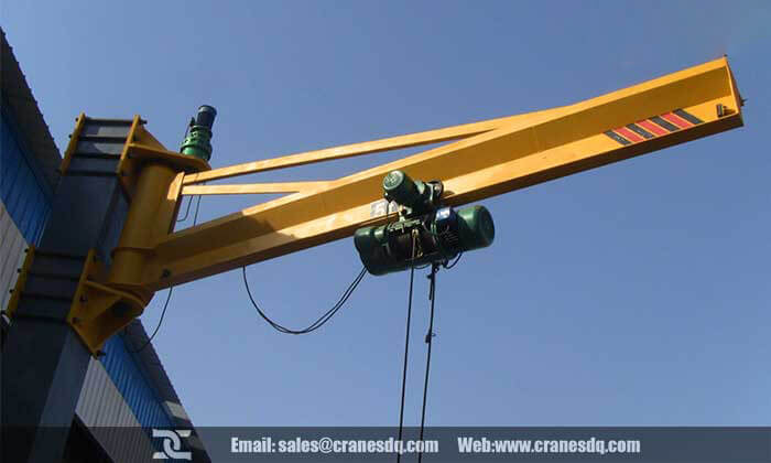 Rotating crane: 180 degree rotating jib crane & 360 degree rotating jib crane