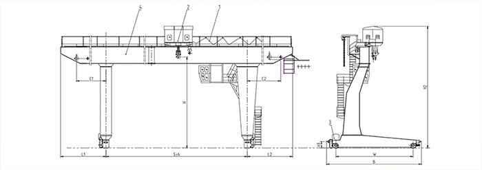 Single Beam Gantry Crane For Sale  5