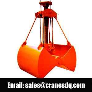 Crane grab: clamshell bucket, orange peel grapple, hydraulic