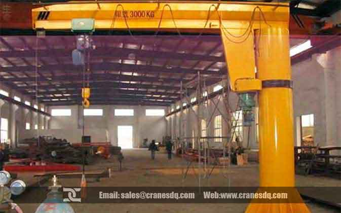 Floor mount jib cranes