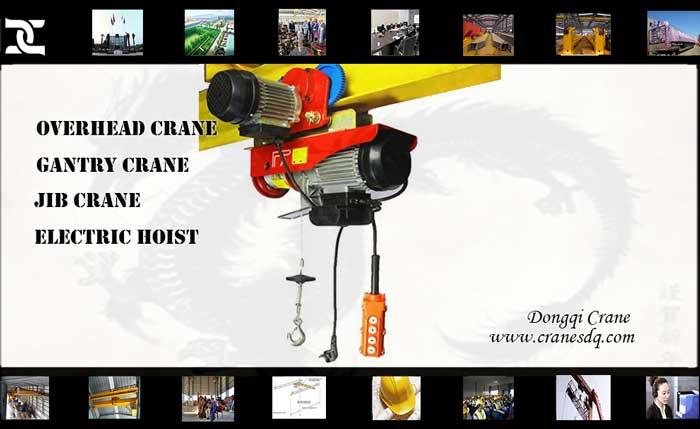 Small electric wire rope hoist