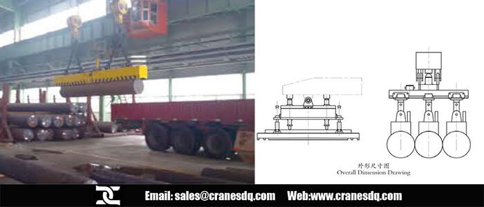Overhead electromagnet crane and crane electromagnet crane drawing
