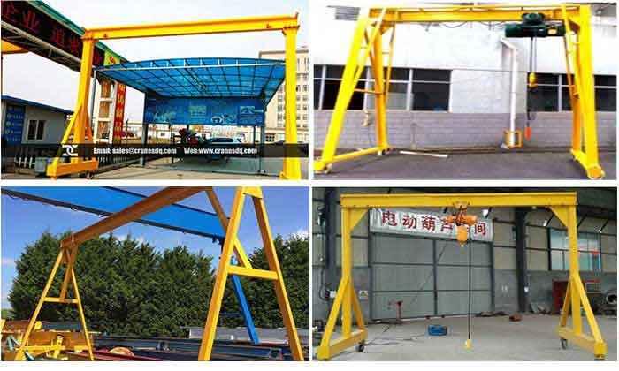 Steel Mobile Gantry Crane A Frame Adjustable Moible